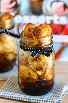 Monkey Bread in a Jar {or Cinnamon Sugar
