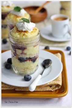 Lemon Pound Cake Parfaits in Jars