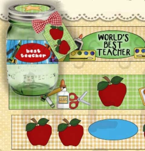 Teachers Rule Mason Jar Labels